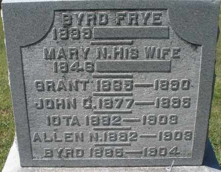 FRYE, BYRD - Madison County, Ohio | BYRD FRYE - Ohio Gravestone Photos