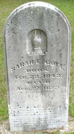 GOFF, SARAH E. - Madison County, Ohio | SARAH E. GOFF - Ohio Gravestone Photos
