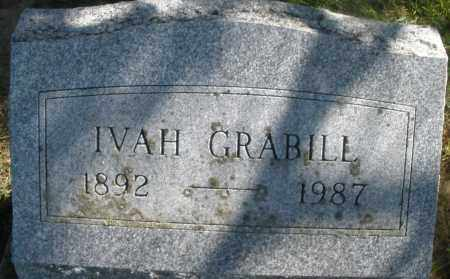 GRABILL, IVAH - Madison County, Ohio | IVAH GRABILL - Ohio Gravestone Photos