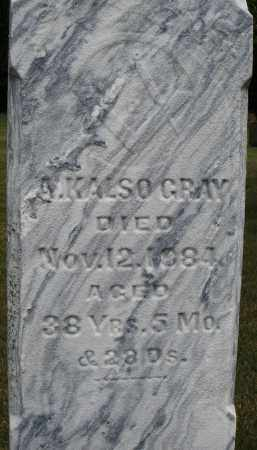 GRAY, A. KALSO - Madison County, Ohio | A. KALSO GRAY - Ohio Gravestone Photos