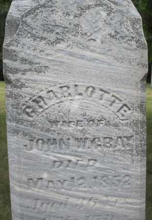 GRAY, CHARLOTTE - Madison County, Ohio | CHARLOTTE GRAY - Ohio Gravestone Photos