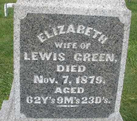 GREEN, ELIZABETH - Madison County, Ohio | ELIZABETH GREEN - Ohio Gravestone Photos