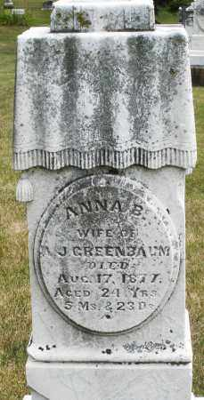 GREENBAUM, ANNA B. - Madison County, Ohio | ANNA B. GREENBAUM - Ohio Gravestone Photos