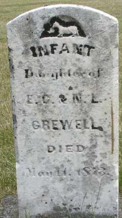 GREWELL, INFANT - Madison County, Ohio | INFANT GREWELL - Ohio Gravestone Photos