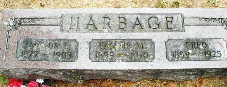 HARBAGE, FANNIE M. - Madison County, Ohio | FANNIE M. HARBAGE - Ohio Gravestone Photos