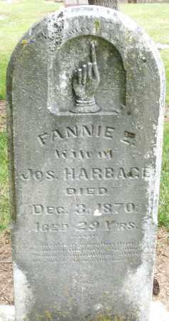 HARBAGE, FANNIE - Madison County, Ohio | FANNIE HARBAGE - Ohio Gravestone Photos