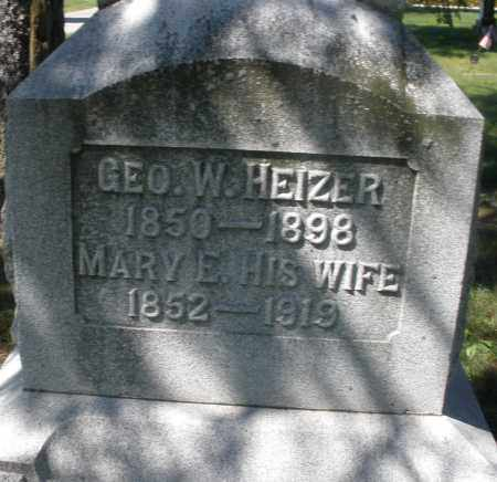 HEIZER, MARY E. - Madison County, Ohio | MARY E. HEIZER - Ohio Gravestone Photos