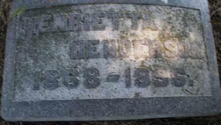 HENDERSON, HENRIETTA - Madison County, Ohio | HENRIETTA HENDERSON - Ohio Gravestone Photos
