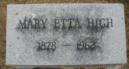 HIGH, MARY ETTA - Madison County, Ohio | MARY ETTA HIGH - Ohio Gravestone Photos