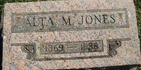 JONES, ALTA M. - Madison County, Ohio   ALTA M. JONES - Ohio Gravestone Photos
