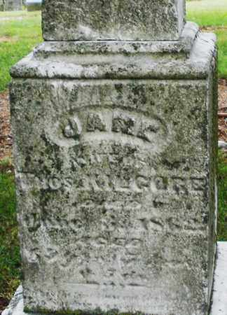 KILGORE, JANE - Madison County, Ohio | JANE KILGORE - Ohio Gravestone Photos