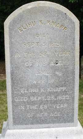 KNAPP, ELIHU K. - Madison County, Ohio | ELIHU K. KNAPP - Ohio Gravestone Photos