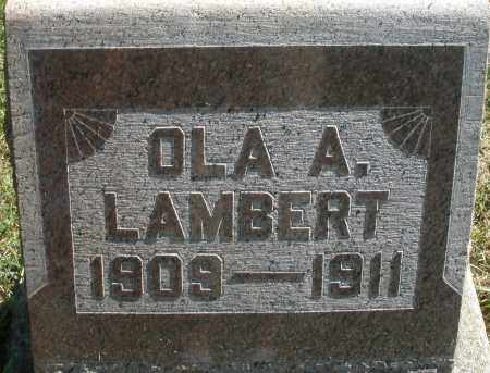 LAMBERT, OLA A. - Madison County, Ohio | OLA A. LAMBERT - Ohio Gravestone Photos