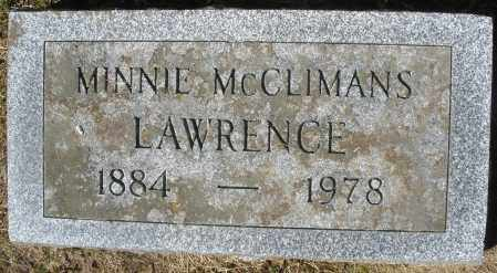 MCCLIMANS LAWRENCE, MINNIE - Madison County, Ohio | MINNIE MCCLIMANS LAWRENCE - Ohio Gravestone Photos