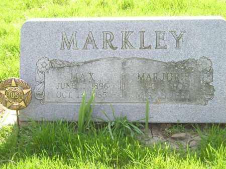 MARKLEY, MAX MCCLELLAND - Madison County, Ohio | MAX MCCLELLAND MARKLEY - Ohio Gravestone Photos
