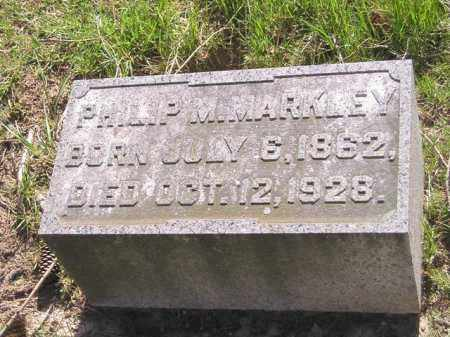 MARKLEY, PHILIP MCCLELLEN - Madison County, Ohio | PHILIP MCCLELLEN MARKLEY - Ohio Gravestone Photos