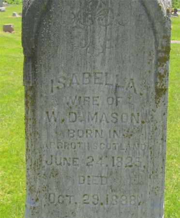 MASON, ISABELLA - Madison County, Ohio | ISABELLA MASON - Ohio Gravestone Photos