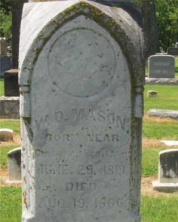 MASON, W.D. - Madison County, Ohio | W.D. MASON - Ohio Gravestone Photos