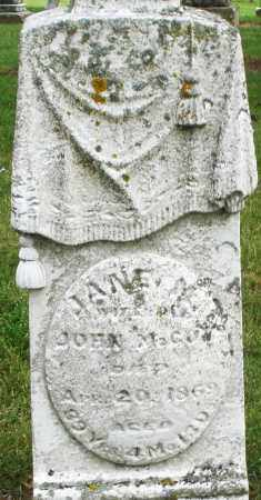MCCOY, JANE - Madison County, Ohio | JANE MCCOY - Ohio Gravestone Photos
