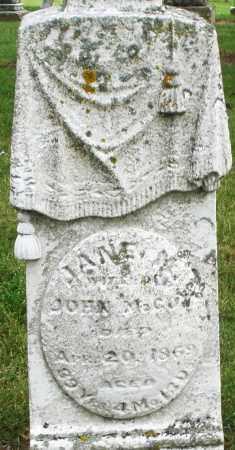 MCCOY, JANE - Madison County, Ohio   JANE MCCOY - Ohio Gravestone Photos