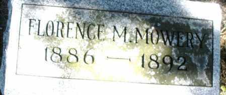 MOWERY, FLORENCE M. - Madison County, Ohio   FLORENCE M. MOWERY - Ohio Gravestone Photos