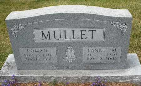 MULLET, FANNIE M. - Madison County, Ohio | FANNIE M. MULLET - Ohio Gravestone Photos