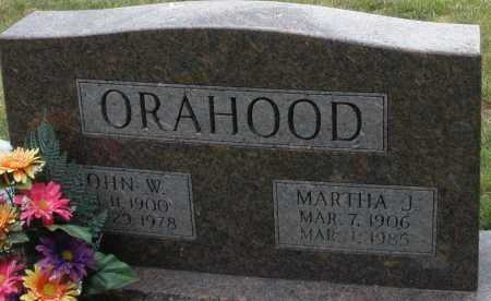 ORAHOOD, MARTHA J. - Madison County, Ohio | MARTHA J. ORAHOOD - Ohio Gravestone Photos