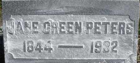 PETERS, JANE - Madison County, Ohio | JANE PETERS - Ohio Gravestone Photos