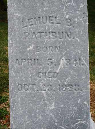 RATHBUN, LEMUEL B. - Madison County, Ohio | LEMUEL B. RATHBUN - Ohio Gravestone Photos