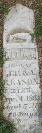 REASON, ALTIA - Madison County, Ohio | ALTIA REASON - Ohio Gravestone Photos