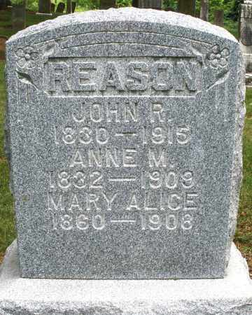 REASON, ANNE W. - Madison County, Ohio | ANNE W. REASON - Ohio Gravestone Photos