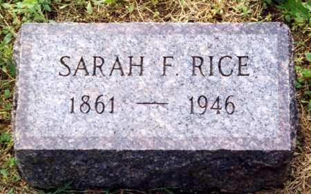 SPARKS RICE, SARAH F. - Madison County, Ohio | SARAH F. SPARKS RICE - Ohio Gravestone Photos