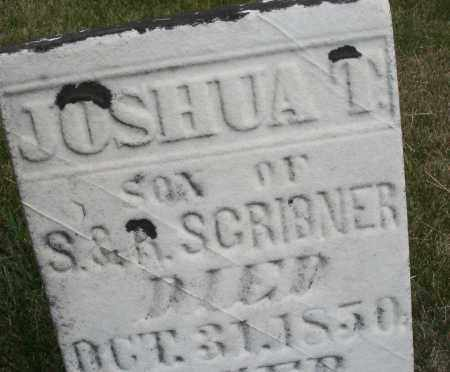 SCRIBNER, JOSHUA T. - Madison County, Ohio | JOSHUA T. SCRIBNER - Ohio Gravestone Photos