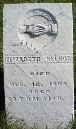 SELSOR, ELIZABETH - Madison County, Ohio | ELIZABETH SELSOR - Ohio Gravestone Photos