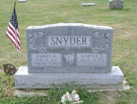 SNYDER, HAROLD D. - Madison County, Ohio | HAROLD D. SNYDER - Ohio Gravestone Photos