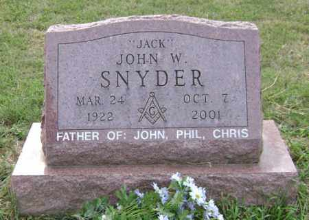 SNYDER, JOHN W. - Madison County, Ohio | JOHN W. SNYDER - Ohio Gravestone Photos