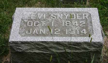 SNYDER, LEVI - Madison County, Ohio | LEVI SNYDER - Ohio Gravestone Photos
