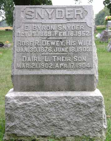 SNYDER, ROSE R. - Madison County, Ohio | ROSE R. SNYDER - Ohio Gravestone Photos