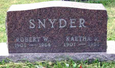 SNYDER, ROBERT W. - Madison County, Ohio | ROBERT W. SNYDER - Ohio Gravestone Photos