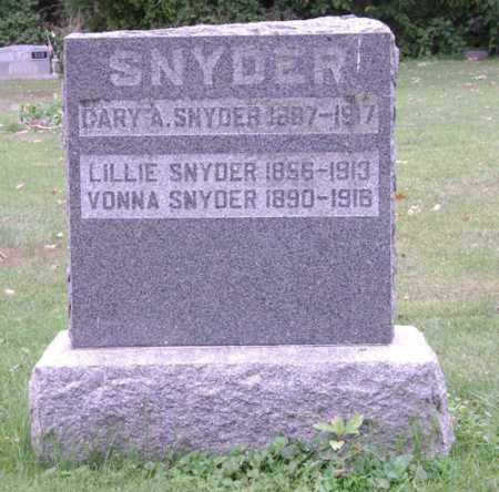 SNYDER, VONNA - Madison County, Ohio | VONNA SNYDER - Ohio Gravestone Photos