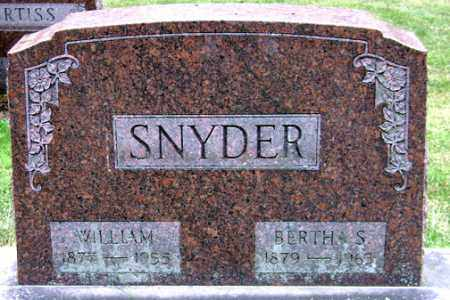 SNYDER, WILLIAM - Madison County, Ohio | WILLIAM SNYDER - Ohio Gravestone Photos