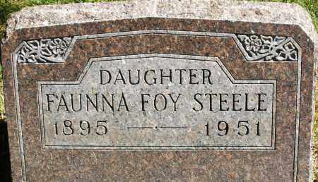 STEELE, FAUNNA FOY - Madison County, Ohio | FAUNNA FOY STEELE - Ohio Gravestone Photos