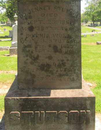 STUTSON, JENNET - Madison County, Ohio | JENNET STUTSON - Ohio Gravestone Photos