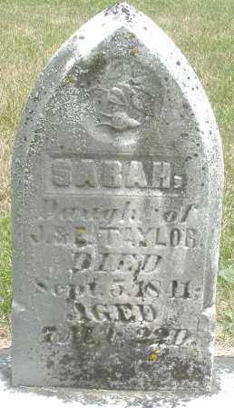 TAYLOR, SARAH - Madison County, Ohio   SARAH TAYLOR - Ohio Gravestone Photos