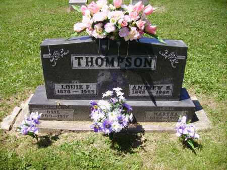 THOMPSON, LOUIE F. - Madison County, Ohio | LOUIE F. THOMPSON - Ohio Gravestone Photos