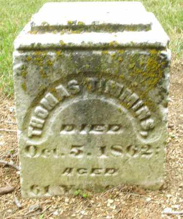 TIMMINS, THOMAS - Madison County, Ohio | THOMAS TIMMINS - Ohio Gravestone Photos