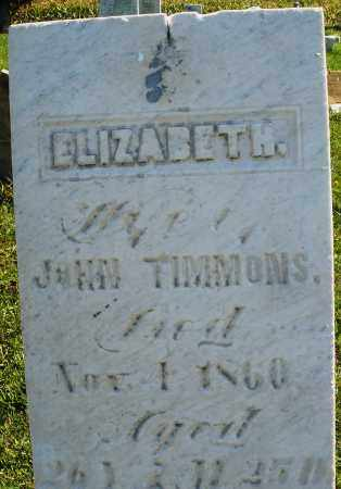 TIMMONS, ELIZABETH - Madison County, Ohio | ELIZABETH TIMMONS - Ohio Gravestone Photos
