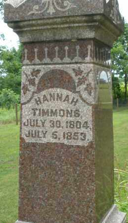 TIMMONS, HANNAH - Madison County, Ohio | HANNAH TIMMONS - Ohio Gravestone Photos