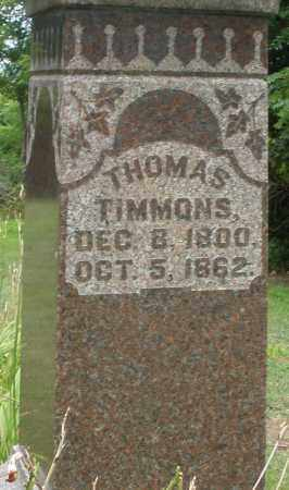 TIMMONS, THOMAS - Madison County, Ohio | THOMAS TIMMONS - Ohio Gravestone Photos