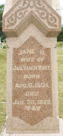 VANDEVORT, JANE H. - Madison County, Ohio | JANE H. VANDEVORT - Ohio Gravestone Photos
